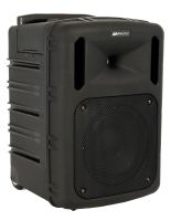 Portable wireless PA system includes CD player