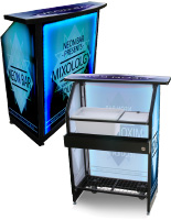 "Compact Custom Graphic LED 40"" Portable Bar"