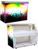 Custom Graphic Portable Wet Bar