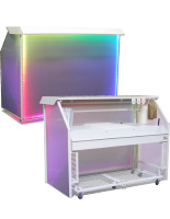 "Unique LED 65"" Portable Bar"