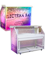 "Unique Custom Graphic LED 65"" Portable Bar"