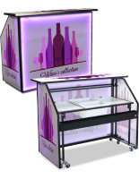 "Large Custom Graphic LED 62.75"" Portable Bar"
