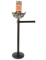 Durable Black Stanchion & Post with Bowl