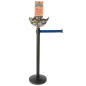 Retail Blue Stanchion & Post with Bowl