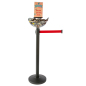 Retail Red Stanchion & Post with Bin