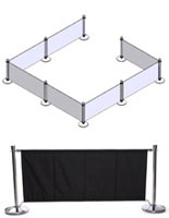Black Outdoor Cafe Barrier