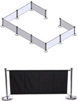 Black Cafe Barrier System