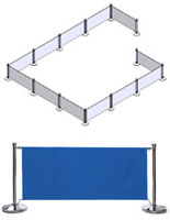 Blue Crowd Control Barriers