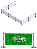 Outdoor Cafe Barrier with Double Sided Printing