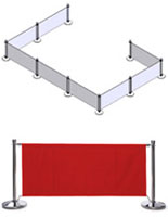 Red Stanchion System