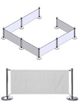 White Outdoor Cafe Barrier
