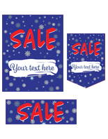 Seasonal sale retail poster multi-pack with custom text