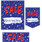 Seasonal sale retail poster multi-pack with trendy design