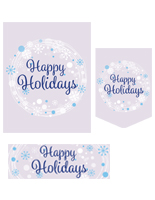 Happy Holidays bulk poster pack with pre-printed message