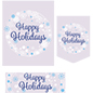 Happy Holidays bulk poster pack with snow flake wreath design