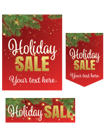 Holiday Sale retail poster multi-pack with pre-printed seasonal theme