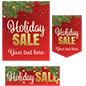 Holiday Sale retail poster multi-pack with custom business message