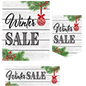 Multipack of Winter Sale posters with ornament graphic