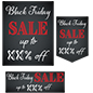 "Multipack ""Black Friday"" business banners for retail stores"