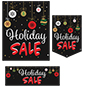 "Multipack of ""Holiday Sale"" business posters with red and white text"