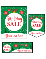 "Bulk pack custom ""Holiday Sale"" business posters with festive message"