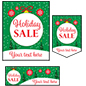 "Bulk pack custom ""Holiday Sale"" business posters with personalized text"