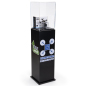 52.5 h x 11.75 w black custom acrylic display pedestal
