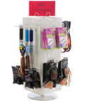 Pegboard Spinner Racks with Round Bases