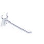 "4"" White Peg Hooks - Metallic"