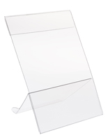 Slanted Easel Sign Holder Clear Finish