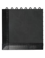 Black Plastic Interlocking Floor Tiles
