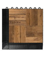 Dark Oak Interlocking Plastic Tiles for 10' x 10' Area