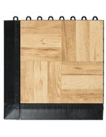 Dance Floor Light Oak Interlocking Plastic Tiles