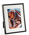 "5"" x 7"" Black Photo Frame with Mat"