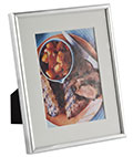 "5"" x 7"" Silver Photo Frame with Mat"