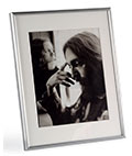 "8"" x 10"" Silver Photo Frame with Easel Backer"