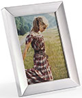 "5"" x 7"" Metal Picture Frames with Dual-Sided Easel"