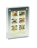 3 5 X Magnetic Picture Frame For Tabletop Double Sided Box Clear Acrylic