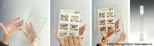 35 X 5 Magnetic Photo Holders W Clear Acrylic Block Design