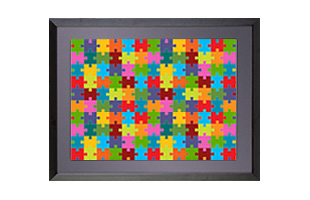 24x18 Black Frame for Puzzles