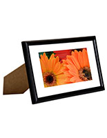 "Black Picture Frames Come in 4"" x 6"" Size"
