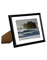 "5"" x 7"" Black Picture Frames with White Matting"