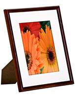 "5"" x 7"" Wood Photo Frame with Removable White Mat"