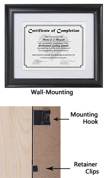 black picture frame with removable mat