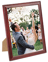 6 x 8 Wood Picture Frame for Tabletop or Wall