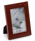 Redwood Picture Frame with Glass Lens