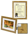 8.5x11 brown picture frame