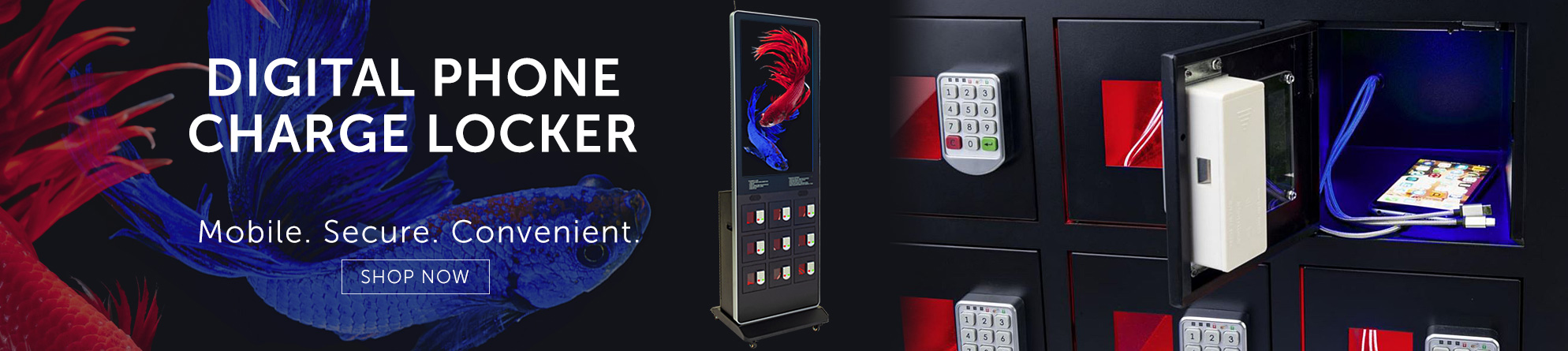 Offer visitors a chance to recharge their mobile devices inside a lockable digital phone charge cabinet