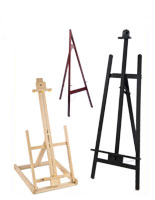 wooden picture easels