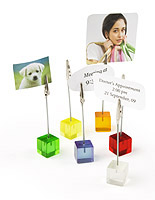 Place card holders suitable for a wedding or other event.
